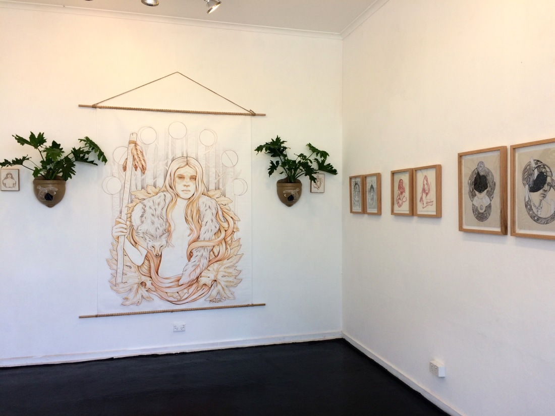 MITCH's exhibition Twoism, 2016, in Off the Kerb Gallery. Photo: Camilla Eustance